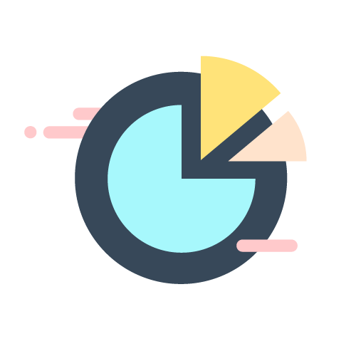 illustration of pie chart infographic